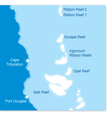 Map Port Douglas Diving Great Barrier Reef Blue Dive