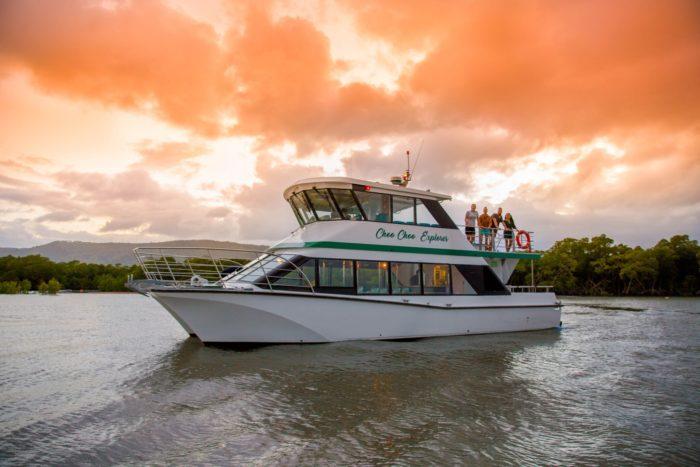 The Choo Choo explorer on a sunset cruise