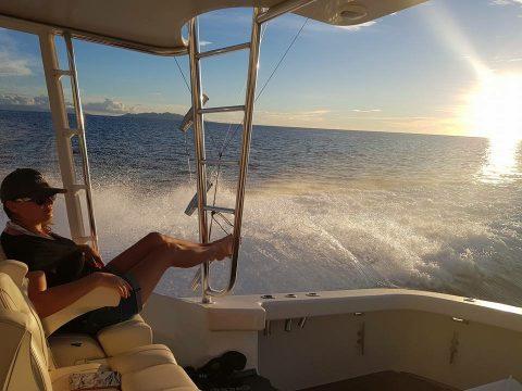 Relaxing aboard Minke